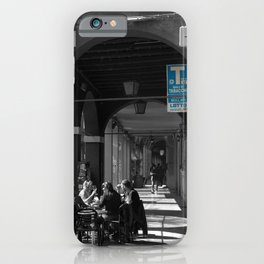 Bologna Tabacchi Blue Street Photography Black and White iPhone Case