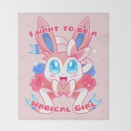 Magical Girl Sylveon Throw Blanket