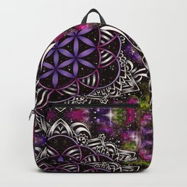 Flower of Life - purple Backpack