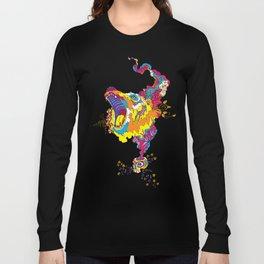 Psychedelic Bear Roar Long Sleeve T-shirt