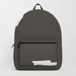 Florida is Home - White on Charcoal Backpack