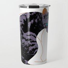 Blinking Cat Sapphire Purple Travel Mug