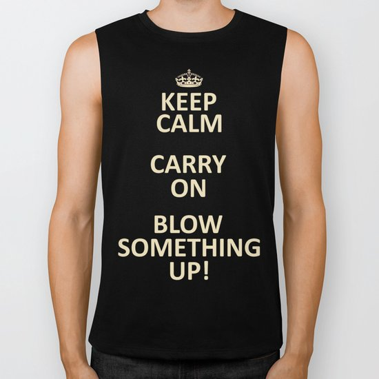 Keep Calm...Destroy! Biker Tank