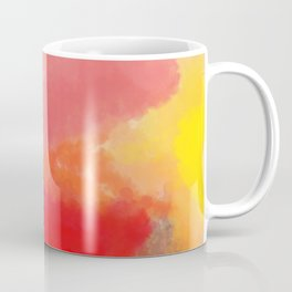 Red, Black and Yellow Mosaic Coffee Mug