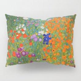 Flower Garden Bauerngarten Klimt Garden Floral Oil Painting Pillow Sham