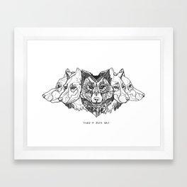 Learn To Speak Wolf Framed Art Print