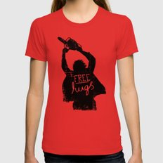 Free Hugs Womens Fitted Tee MEDIUM Red