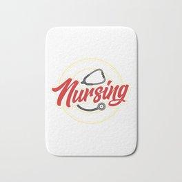 Funny No Sleep No Money No Life Nursing Student RN Bath Mat