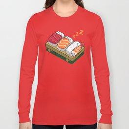 Sushi sleeping Long Sleeve T-shirt