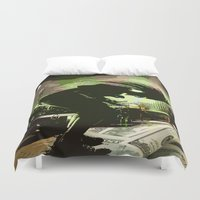 rock n roll Duvet Covers featuring Rock N Roll by DTGTEEZ