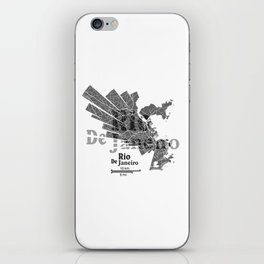 Rio De Janeiro Map iPhone Skin