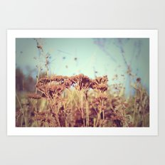 plants - Retro  Art Print