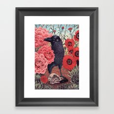 Crow Effigy Framed Art Print