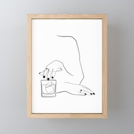 Whiskey Woman Framed Mini Art Print