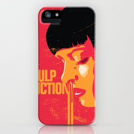 Mia wallace pulp fiction poster art print movie show minimalistic illustration iPhone Case