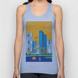 Frankfurt, Germany - Skyline Illustration by Loose Petals Unisex Tank Top