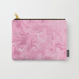 Modern abstract pink watercolor marble pattern Carry-All Pouch