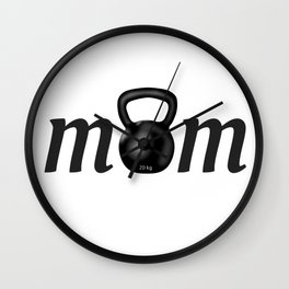 Strong MOM Kettlebell for Crossfitters Wall Clock