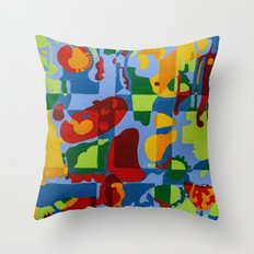 Geometric Garden Throw Pillow