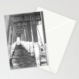 Black and White Pier (Wrightsville Beach, NC) Stationery Cards
