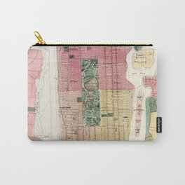 New York Vintage Maps And Drawings Carry-All Pouch