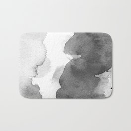Charcoal (Watercolor blends) Bath Mat