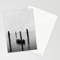 Boat on the lake Stationery Cards