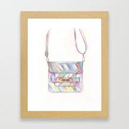 holographic bag Framed Art Print