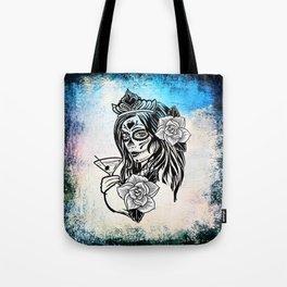 bw sugarskull Tote Bag