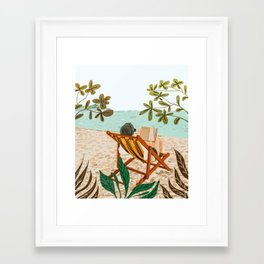 Vacay Book Club #illustration #tropical Framed Art Print