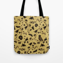 Orchid Owl Yellow Tote Bag