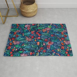 Tropical Ink - a watercolor garden Rug