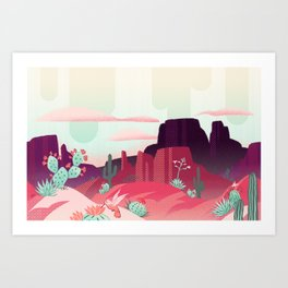 Desert Canyon (1) Art Print