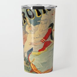French belle epoque mime theatre advertising Travel Mug