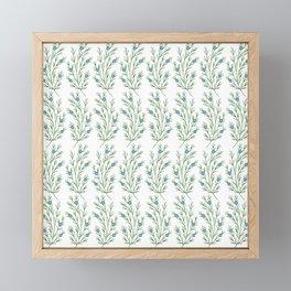 Abstract Juniper Branch   Embroidery Pattern   Botanical Framed Mini Art Print