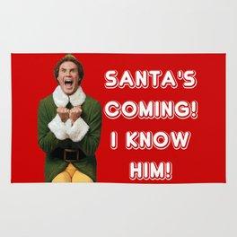 SANTA'S COMING! I KNOW HIM! Elf Christmas Movie Buddy Will Ferrell Rug