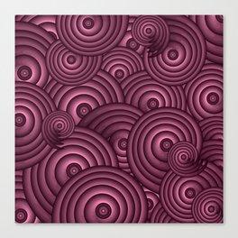Aubergine Swirls Canvas Print