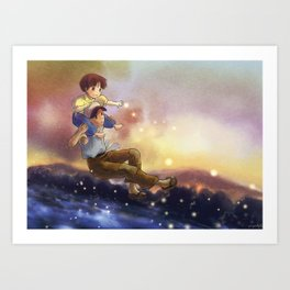 grave of the fireflies - fan art Art Print