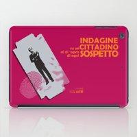 kafka iPad Cases featuring Indagine su un Cittadino al di sopra di ogni Sospetto - Locandina per il Capolavoro di Elio Petri  by Stefanoreves