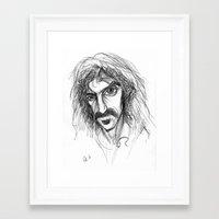 zappa Framed Art Prints featuring Zappa by Mark T. Zeilman
