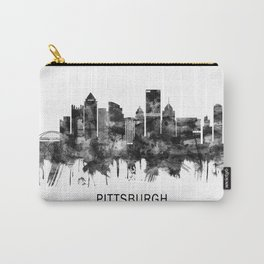 Pittsburgh Pennsylvania Skyline BW Carry-All Pouch