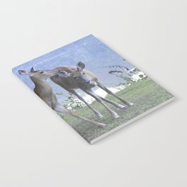 Early Evening Visitors Young Deer -Debra Cortese photo art Notebook