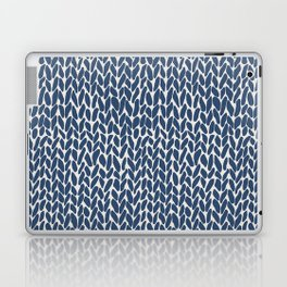Hand Knit Navy Laptop & iPad Skin