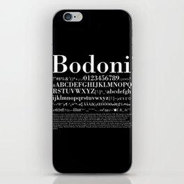 Bodoni (White) iPhone Skin