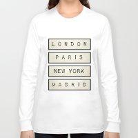 calendars Long Sleeve T-shirts featuring London | Paris | New York | Madrid by Shabby Studios Design & Illustrations ..