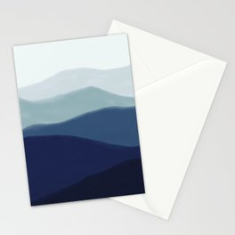 The Indigo Mountains Watercolor Stationery Cards