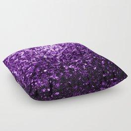 Beautiful Dark Purple glitter sparkles Floor Pillow