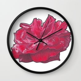 Red Rose 2 Wall Clock