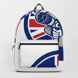 British Firefighter Union Jack Flag Icon Backpack