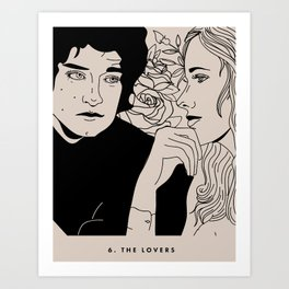6. The Lovers Art Print